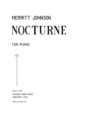 Primary view of object titled 'Nocturne for Piano'.