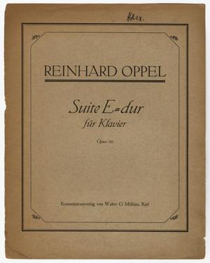 Primary view of Suite E-dur, Op. 30