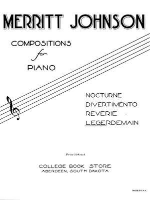 Primary view of object titled 'Compositions for Piano: Legerdemain'.
