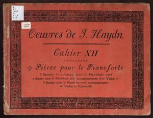 Primary view of Oeuvres de J. Haydn, Cahier XII contenant 9 Pièces pour le Pianoforte
