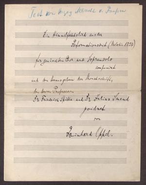 Primary view of Ein Himmelfahrtslied aus der Reformationszeit (Melodie 1527)