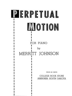 Primary view of object titled 'Perpetual Motion for P{iano'.