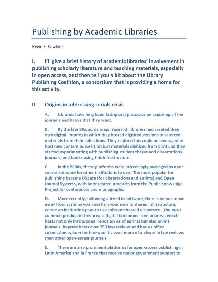 Publishing by Academic Libraries - Digital Library