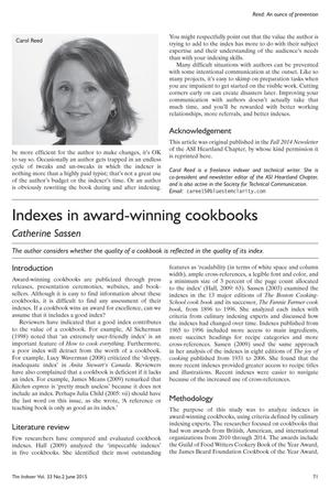 Primary view of object titled 'Indexes in award-winning cookbooks'.