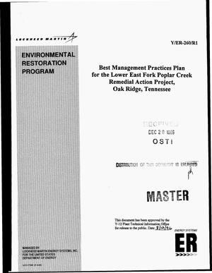 Primary view of object titled 'Best management practices plan for the Lower East Fork Poplar Creek remedial action project, Oak Ridge, Tennessee'.