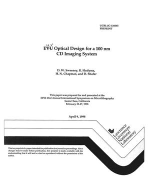 Primary view of object titled 'EUV optical design for 100 nm CD imaging system'.