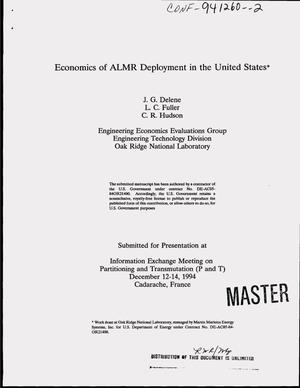 Primary view of object titled 'Economics of ALMR deployment in the United States'.