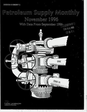 Primary view of object titled 'Petroleum supply monthly, November 1996 with data for September 1996'.