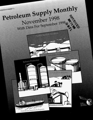 Primary view of object titled 'Petroleum supply monthly, November 1998, with data for September 1998'.