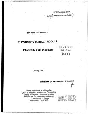 Primary view of object titled 'EIA model documentation: Electricity market module - electricity fuel dispatch'.