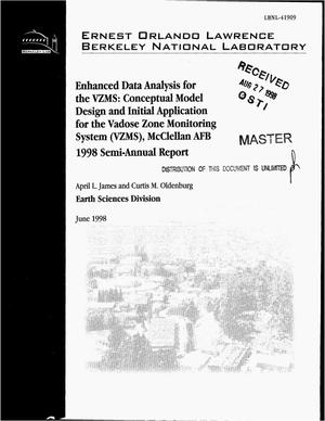 Primary view of object titled 'Enhanced data analysis for the VZMS: Conceptual model design and initial application for the Vadose Zone Monitoring System (VZMS), McClellan AFB. 1998 semi-annual report'.