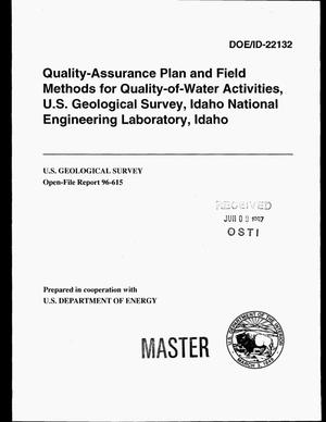 Primary view of object titled 'Quality-assurance plan and field methods for quality-of-water activities, U.S. Geological Survey, Idaho National Engineering Laboratory, Idaho'.