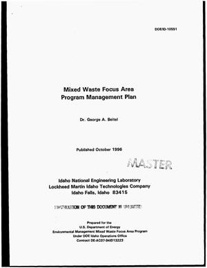 Primary view of object titled 'Mixed Waste Focus Area program management plan'.
