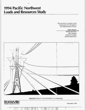 Primary view of object titled '1994 Pacific Northwest Loads and Resources Study.'.