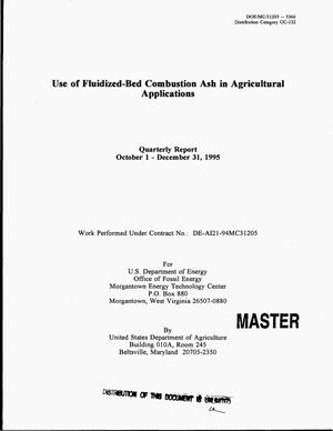 Primary view of object titled 'Use of fluidized-bed combustion ash in agricultural applications. Quarterly report, October 1, 1995--December 31, 1995'.