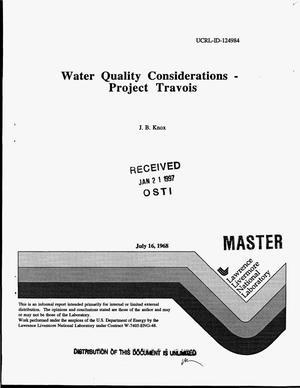 Primary view of object titled 'Water quality considerations - Project Travois'.