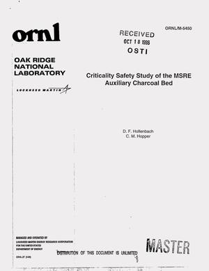 Primary view of object titled 'Criticality safety study of the MSRE auxiliary charcoal bed'.