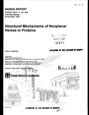 Primary view of object titled 'Structural mechanisms of nonplanar hemes in proteins'.
