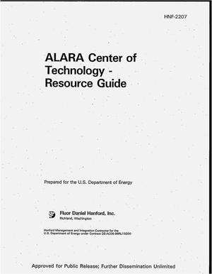 Primary view of object titled 'ALARA Center of Technology -- resource guide'.