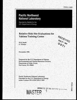 Primary view of object titled 'Relative risk site evaluations for Yakima Training Center'.