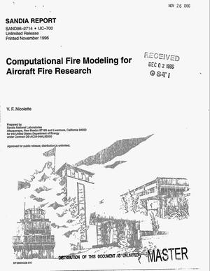 Primary view of object titled 'Computational fire modeling for aircraft fire research'.