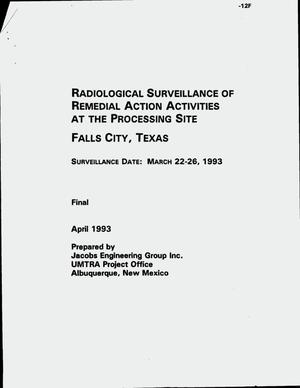 Primary view of object titled 'Radiological surveillance of Remedial Action activities at the processing site, Falls City, Texas. Final report'.