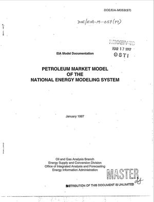 Primary view of object titled 'Petroleum Market Model of the National Energy Modeling System'.
