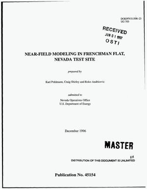 Primary view of object titled 'Near-field modeling in Frenchman Flat, Nevada Test Site'.