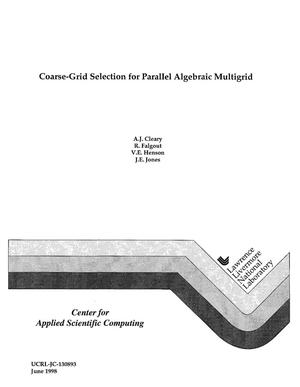 Primary view of object titled 'Coarse-grid selection for parallel algebraic multigrid'.