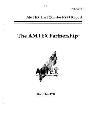 Primary view of object titled 'AMTEX first quarter FY95 report'.