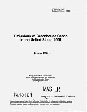 Primary view of object titled 'Emissions of greenhouse gases in the United States 1995'.