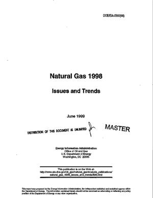 Primary view of object titled 'Natural gas 1998: Issues and trends'.