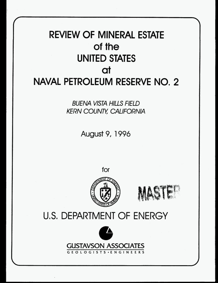 Review of mineral estate of the United States at Naval