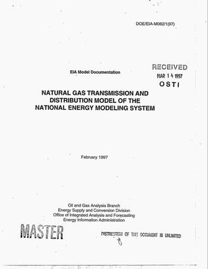 Primary view of object titled 'Natural gas transmission and distribution model of the National Energy Modeling System'.