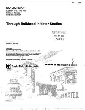 Primary view of object titled 'Through bulkhead initiator studies'.