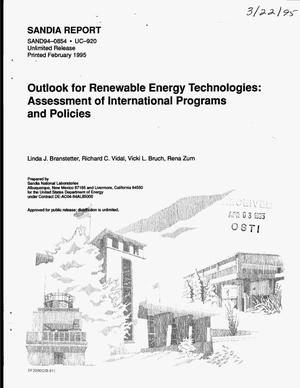 Primary view of object titled 'Outlook for renewable energy technologies: Assessment of international programs and policies'.