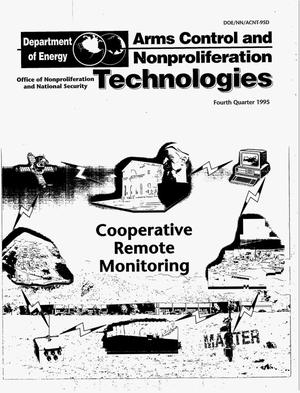 Primary view of object titled 'Cooperative Remote Monitoring, Arms control and nonproliferation technologies: Fourth quarter 1995'.