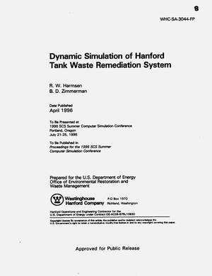 Primary view of object titled 'Dynamic simulation of the Hanford tank waste remediation system'.