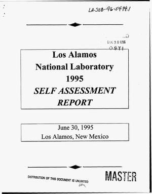 Primary view of object titled 'Los Alamos National Laboratory 1995 self assessment report'.