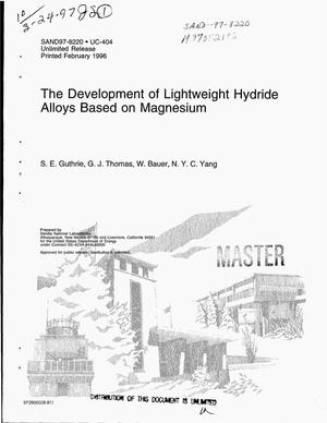 Primary view of object titled 'The development of lightweight hydride alloys based on magnesium'.