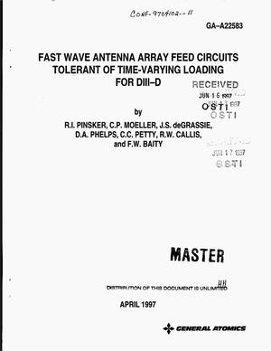 Primary view of object titled 'Fast wave antenna array feed circuits tolerant of time-varying loading for DIII-D'.