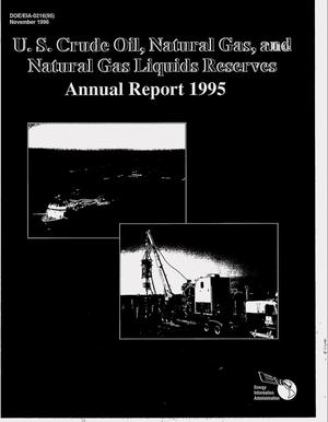 Primary view of object titled 'U.S. crude oil, natural gas, and natural gas liquids reserves 1995 annual report'.