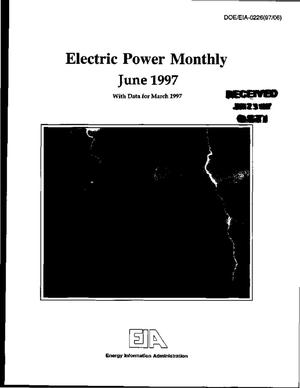Primary view of object titled 'Electric power monthly, June 1997 with data for March 1997'.