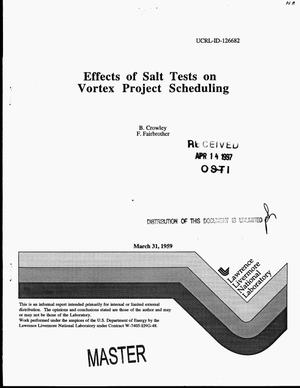 Primary view of object titled 'Effects of salt tests on Vortex Project scheduling'.