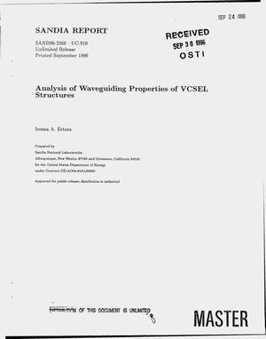 Primary view of object titled 'Analysis of waveguiding properties of VCSEL structures'.
