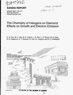 Primary view of object titled 'The chemistry of halogens on diamond: effects on growth and electron emission'.