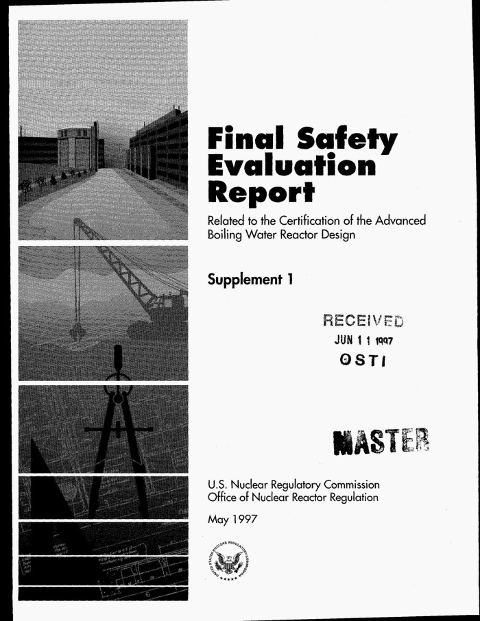 Final safety evaluation report related to the certification of the ...