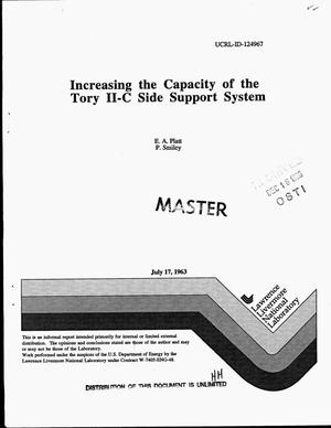 Primary view of object titled 'Increasing the capacity of the Tory II-C Side Support System'.
