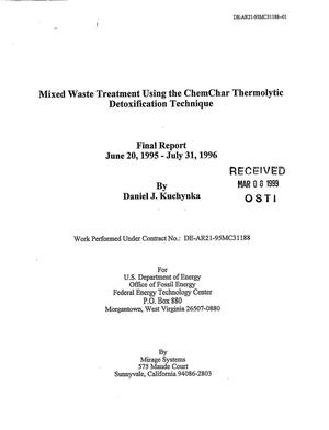 Primary view of object titled 'Mixed Waste Treatment Using the ChemChar Thermolytic Detoxification Technique'.
