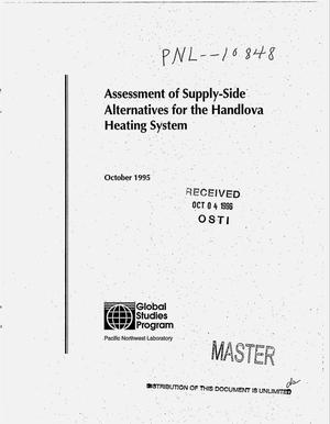 Primary view of object titled 'Assessment of supply-side alternatives for the Handlova heating system'.